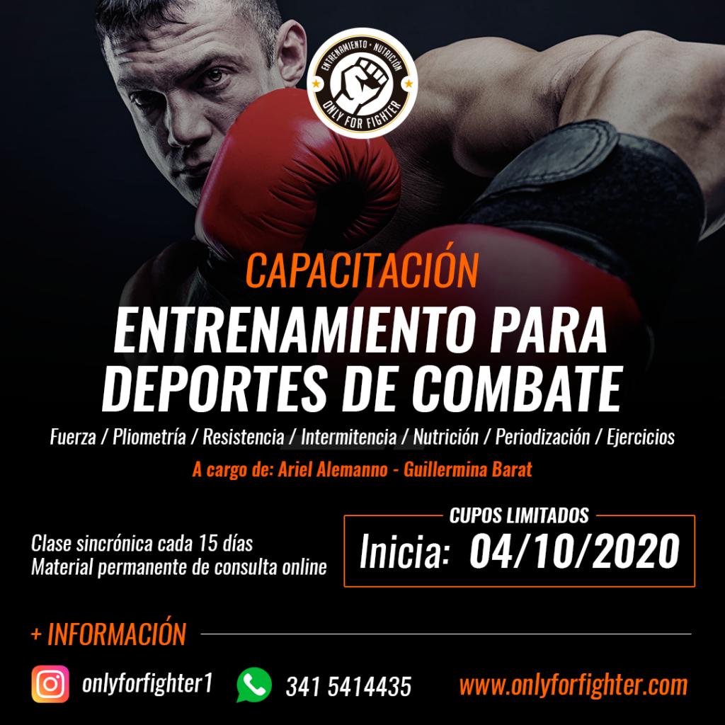 Capacitación Entrenamiento y nutrición deportes de Combate